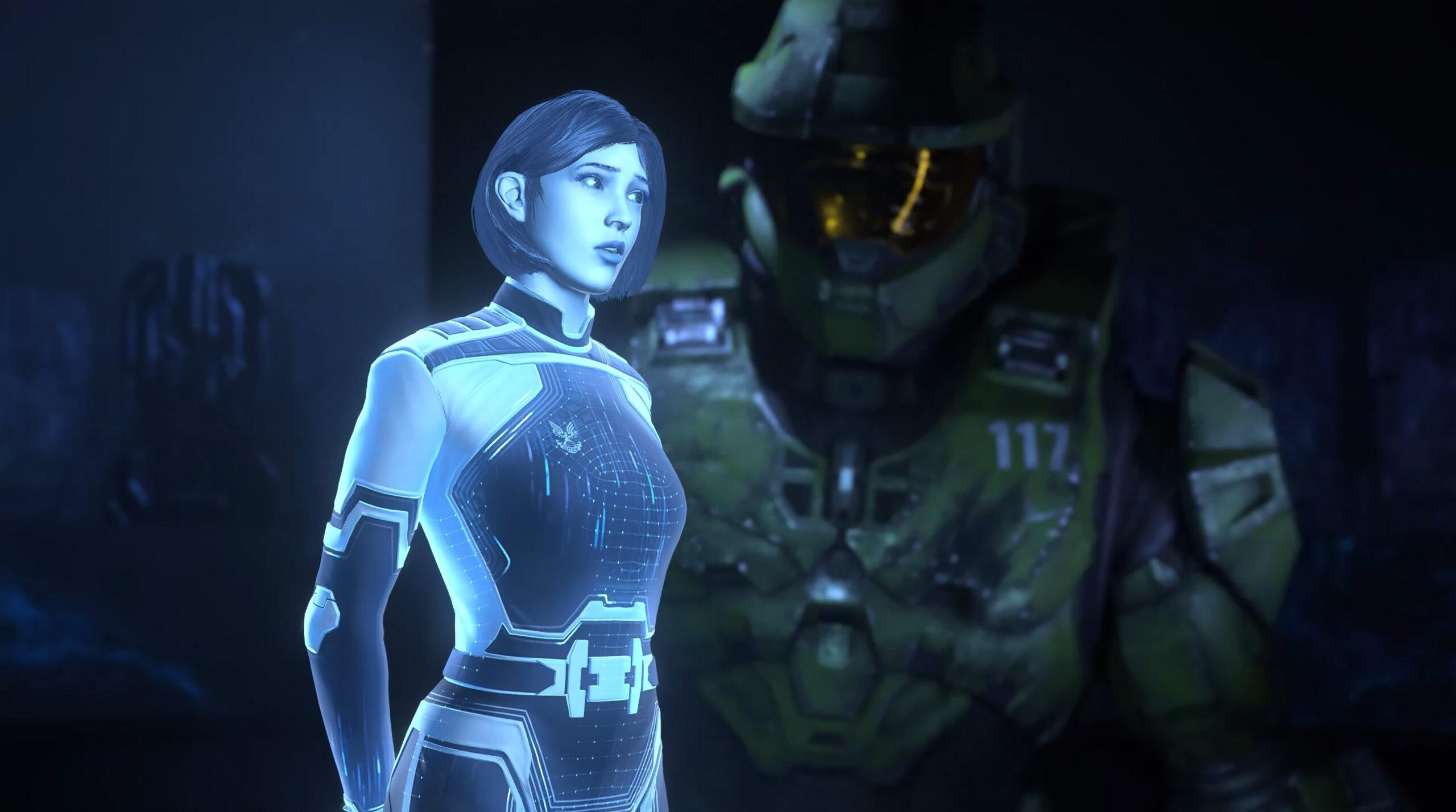 Halo Infinite chief and Cortana